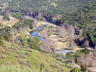 Nacimiento River - The river downstream of Nacimiento Dam