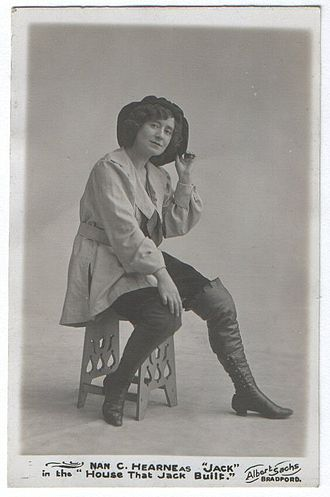 Principal boy - Actress Nan Hearne as Jack in the pantomime The House That Jack Built
