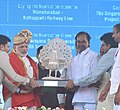 Narendra Modi and KCR in Mission Bhagiratha.jpg