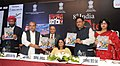 Narendra Singh Tomar releasing the summit backgrounder, at the ASSOCHAM Steel Summit, in New Delhi on November 13, 2014. The Minister of State for Mines and Steel, Shri Vishnu Deo Sai is also seen.jpg