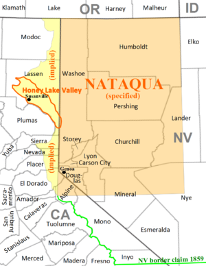 By implication the east slope of the Sierra Nevada was intended to be part of Nataqua Territory