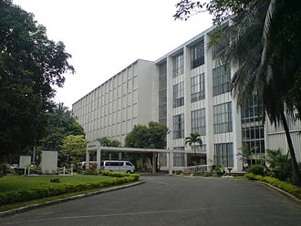 National Library of the Philippines - The facade of the library facing T.M. Kalaw Avenue