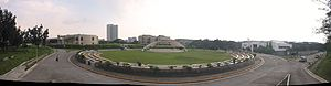 University of the Philippines Diliman - A panoramic view of the National Science Complex, with the amphitheater at the center