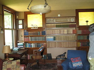 Naulakha (Rudyard Kipling House) - The house contains this library of Kipling's works, some of which were owned by him when he lived here