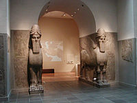 An analysis of the mesopotamian piece of art the winged human headed bull