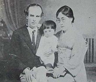 Nikolai Aleksandrovich Nevsky - Nevsky with his wife and daughter, Japan 1929