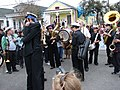 New Orleans Brass Band, Hug in Front of Helen Hill's House by Howie Luvzus.jpg