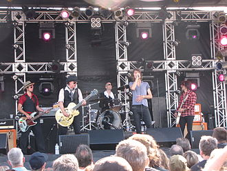 New York Dolls - The New York Dolls, performing at the Burlington Sound of Music festival in 2010