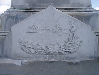 History of Newark, New Jersey - The landing of the Puritans in 1666, from the Settlers' Monument, Fairmount Cemetery