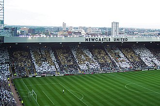 Newcastle United F.C. - Alan Shearer mosaic during his testimonial match in May 2006. The club's record goalscorer retired that month.