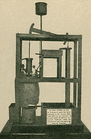 Watt steam engine - The model Newcomen engine upon which Watt experimented