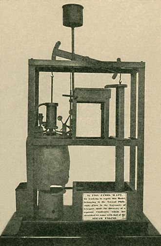 Watt steam engine - The model Newcomen engine upon which Watt experimented