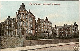 Royal Gwent Hospital - Newport and Monmouthshire Hospital new buildings in 1905