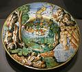 Ngv, maiolica di urbino, piatto con diana con le niobidi, 1545 circa.JPG