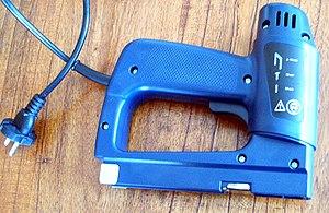 Staple gun - An electric stapler