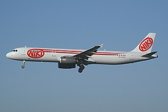 Niki (airline) - Niki Airbus A321-200 wearing the airline's first livery
