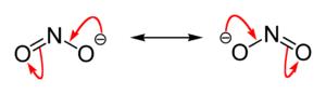 Mesomere Grenzstrukuren des Nitrit-Ions