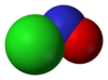 Spacefill model of nitrosyl chloride