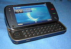 Nokia n97 mobile phone.JPG