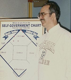 Libertarian Party (United States) - David Nolan, founder of the Libertarian Party, with the Nolan Chart.