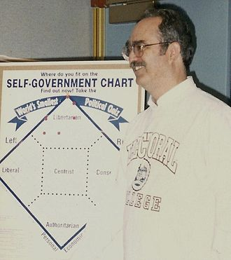 David Nolan (libertarian) - Nolan pictured with his eponymous chart at the 1996 Libertarian National Convention.