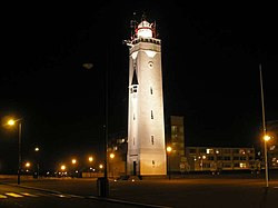 The landmark lighthouse in Noordwijk