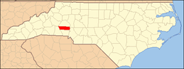 North Carolina Map Highlighting Lincoln County.PNG