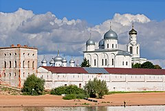Novgorod - View on Yuriev Monastery from Volkhov 02.jpg
