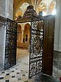 Noyon (60), cathédrale Notre-Dame, chapelle Notre-Dame-de-Bon-Secours, grille de clôture.jpg