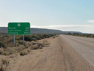Nullarbor Plain - Another road sign
