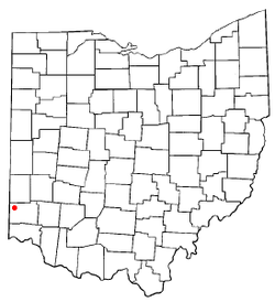 Location of Oxford in Butler County, Ohio