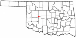 Location of Hydro, Oklahoma