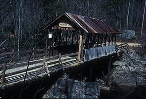 "DeKalb County, Alabama - The ""Old Union"" or ""Tallahatchie"" covered bridge crosses the Little River."