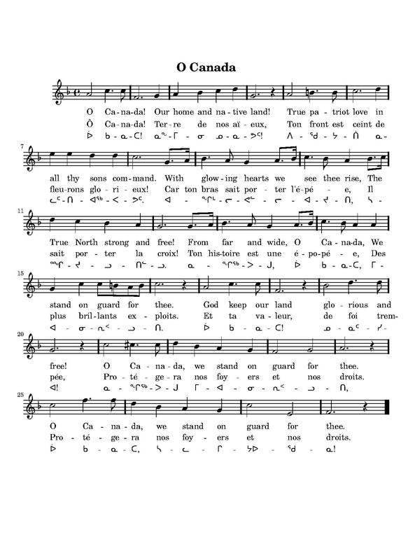 Canada national anthem with lyrics in english