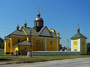 Obenyzhi Turiyskyi Volynska-Exaltation of the Holy Cross church&Bell tower-general view.jpg