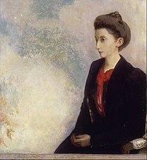 REDON Odilon Baroness Robert de Domecy 1900