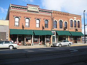 Oregon Commercial Historic District - The 300 Block of Washington, including the F.G. Jones Block.