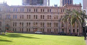 Treasury Casino - Image: Old Treasury Building from Queens Gardens
