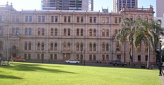 Treasury Casino - Image: Old Treasury Building from Queens Gardens