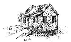 Old Eagle School - Old Eagle School in 1788.