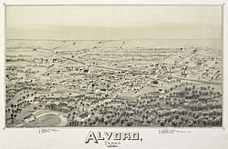 Map of Alvord in 1890