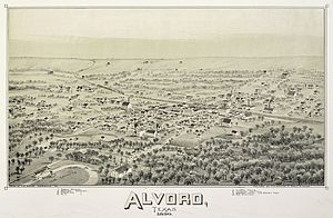 Alvord, Texas - Image: Old map Alvord 1890
