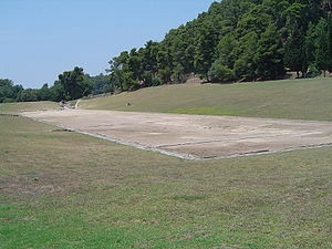 Venues of the 2004 Summer Olympics - Stadium at Olympia track in 2006. The stadium itself host the athletics shot put events for the 2004 Summer Olympics in neighboring Athens.