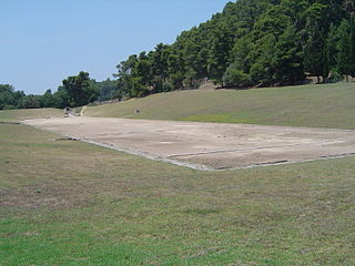 Stadium at Olympia Ancient Olympic venue in Olympia, Greece