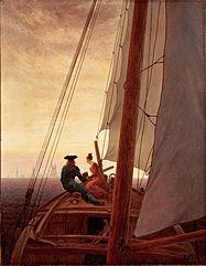 FRIEDRICH Caspar David On a Sailing Ship 1818-20
