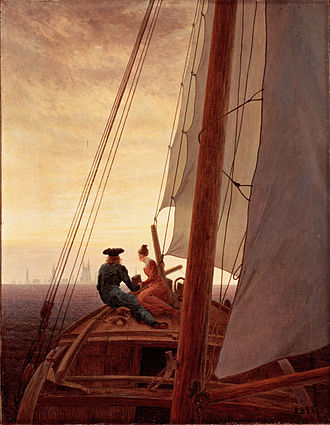 1819 in art - Image: On a Sailing Ship by Caspar David Friedrich