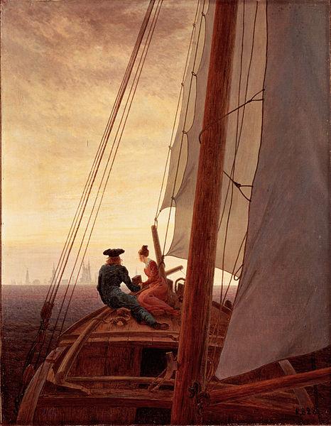 File:On a Sailing Ship by Caspar David Friedrich.jpg