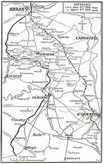 German withdrawal to the Hindenburg Line, 1917