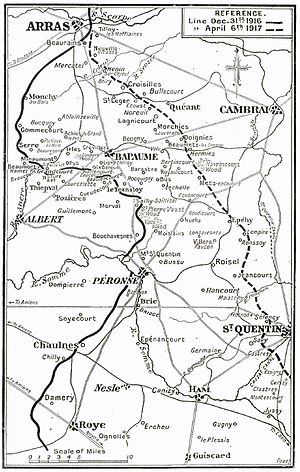 Operation Alberich - New front line after Operation Alberich
