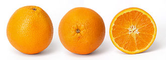 Shades of orange - Orange fruit and cross section